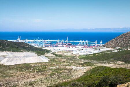 under: New passenger terminals under construction in Port of Tangier, Africa