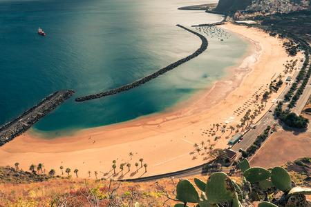 briny: Beach Las Teresitas in Santa cruz de Tenerife north at Canary Islands