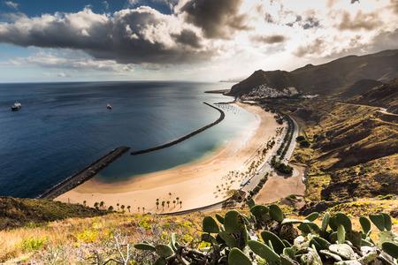 santa cruz de tenerife: Beach Las Teresitas in Santa cruz de Tenerife north at Canary Islands