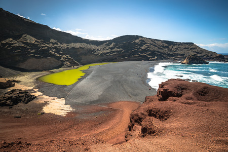 Green Lagoon at El Golfo, Lanzarote, Canary Islands