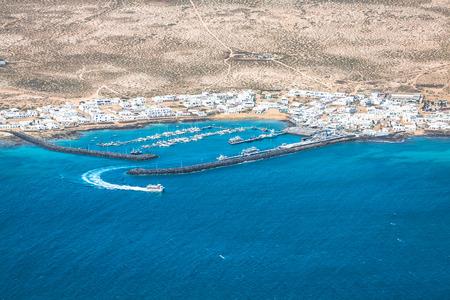 mirador: Mirador del Rio in Lanzarote, Canary Islands, Spain Stock Photo