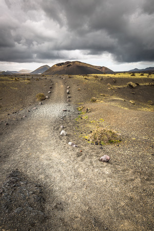 timanfaya: volcanic landscape at Timanfaya National Park, Lanzarote Island, Canary Islands, Spain