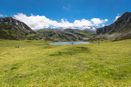 covadonga: Lake Ercina. Cantabrian. Covadonga. Asturias. Spain.