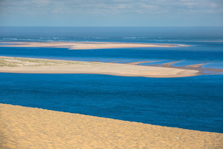aquitaine: View from the highest dune in Europe - Dune of Pyla (Pilat), Arcachon Bay, Aquitaine, France