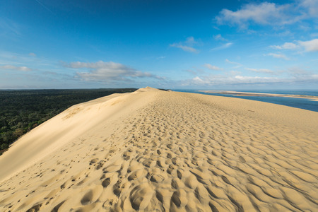 Great Dune of Pyla, the tallest sand dune in Europe, Arcachon bay, France 版權商用圖片