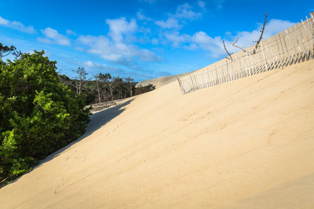 great bay: Great Dune of Pyla, the tallest sand dune in Europe, Arcachon bay, France Stock Photo