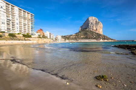 valencia orange: Penon de Ifach in Calpe, Alicante, Spain Stock Photo