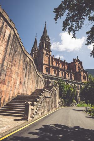covadonga: Basilica of Santa Maria, Covadonga, Asturias, Spain Stock Photo