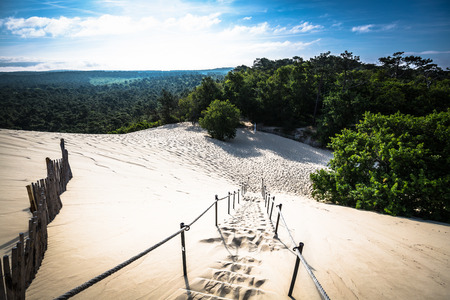 Dune du Pilat at 114 Metres the highest sand dune in Europe near Arcachon Gironde France Aquitaine Stock Photo