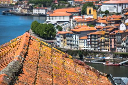 porto: colorful buildings of Porto. Portugal Stock Photo