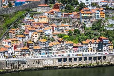 tourist attraction: colorful buildings of Porto. Portugal Stock Photo