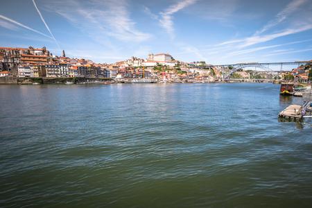 douro: Porto, Portugal old town on the Douro River.