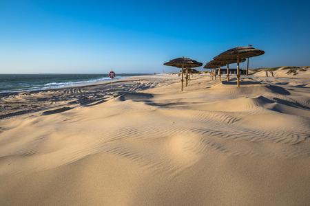 nova: Costa Nova beach in Aveiro, Portugal Stock Photo