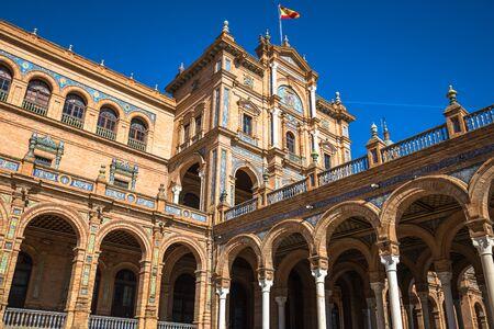 sevilla: Beautiful Plaza de Espana, Sevilla, Spain Editorial