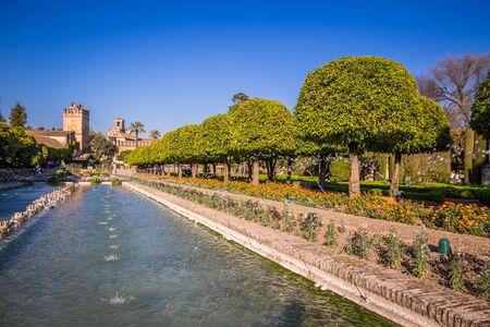 alcazar: Gardens at the Alcazar de los Reyes Cristianos in Cordoba, Spain Editorial