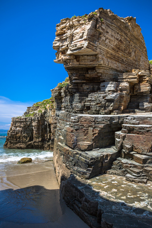 galicia: Rocky coast of Spain. Galicia Stock Photo