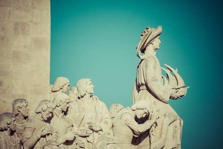 descubridor: Monument to the Discoveries of New world in Lisboa, Portugal