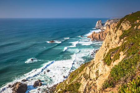 roca: Cabo da Roca, the western point of Europe - Portugal Stock Photo
