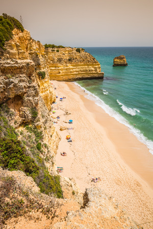 praia: Praia da Marinha - Beautiful Beach Marinha in Algarve, Portugal