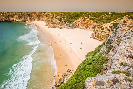praia: Praia do Beliche - beautiful coast and beach of Algarve, Portugal