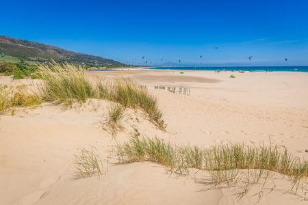 Valdevaqueros beach in spain with africa at horizon