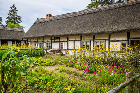 Old wooden house in Kluki, Poland