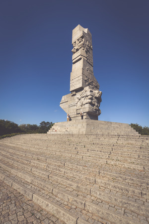 Monument commemorating first battle of Second World War and Polish Defense War Editorial