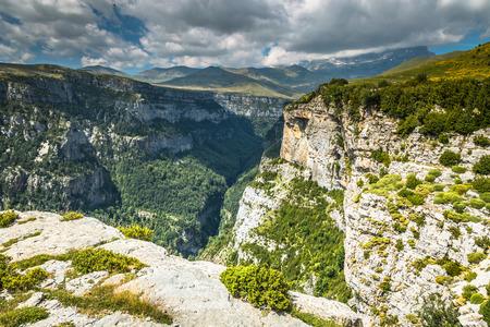 perdido: Pyrenees Mountains landscape - Anisclo Canyon in summer. Huesca,Spain Stock Photo