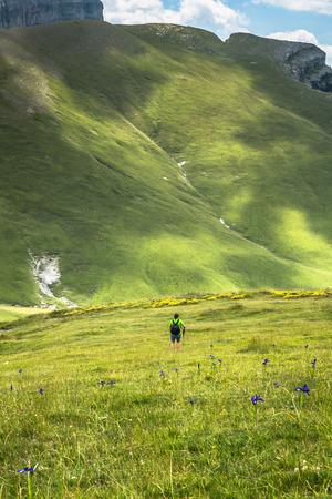 Pyrenees mountains landscape in summer. Huesca, Agaron