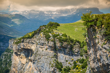 Pyrenees Mountains landscape - Anisclo Canyon in summer. Huesca,Spain Stock Photo