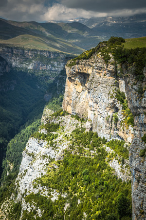 anisclo: Pyrenees Mountains landscape - Anisclo Canyon in summer. Huesca,Spain Stock Photo
