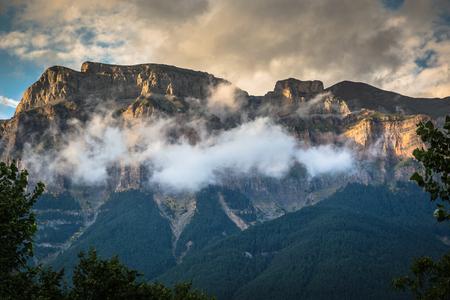 ordesa: Beautiful landscape of famous Ordesa National Park, Pyrenees, Spain. Stock Photo