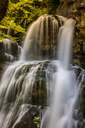 Cascada de la Cueva waterfall in Ordesa valley Pyrenees Huesca Spain Arazas river Stock Photo