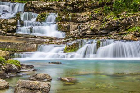 perdido: Gradas de Soaso. Waterfall in the spanish national park Ordesa and Monte Perdido, Pyrenees