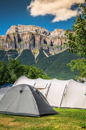Beautiful landscape of famous Ordesa National Park, Pyrenees, Spain. Stock Photo