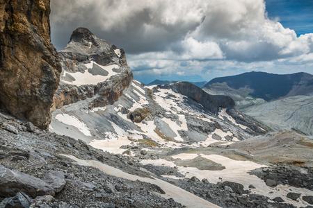 Paisaje en el Parque Nacional de los Pirineos Foto de archivo - 70090487