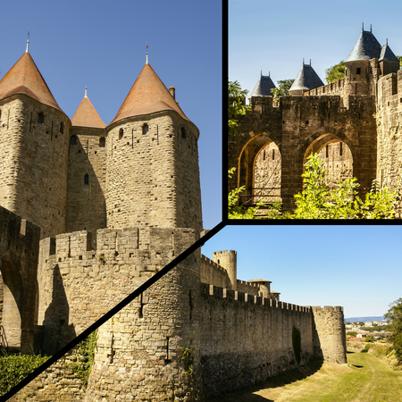 Collage of Carcassonne, France (my photos)