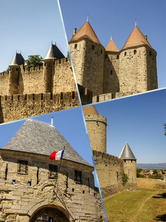 quoted: Collage of Carcassonne, France (my photos)