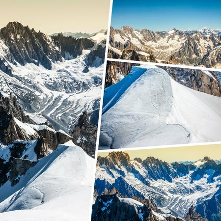blanc: Collage of Chamonix Mont Blanc, France Stock Photo