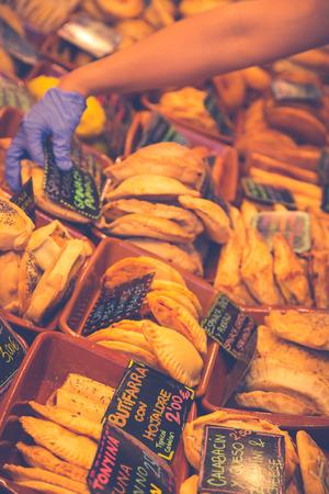 la boqueria: Fruits and vegetables stall in La Boqueria, the most famous market in Barcelona. Stock Photo