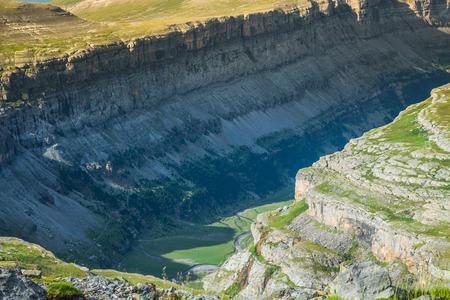 perdido: View of Ordesa valley and Monte Perdido massif, Pyrenees, Spain.