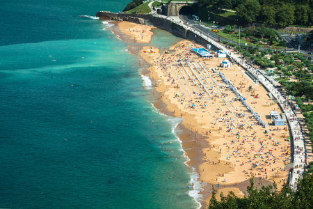La Concha beach in San Sebastian,Spain.