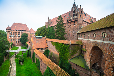 Malbork Castle in Poland medieval fortress built by the Teutonic Knights Order
