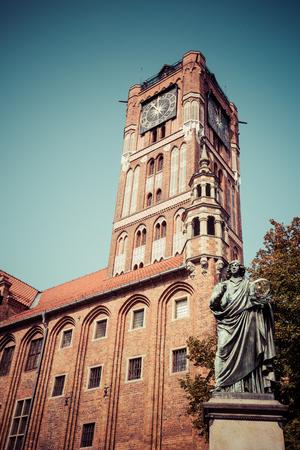 Nicolaus Copernicus statue in Torun, Poland.