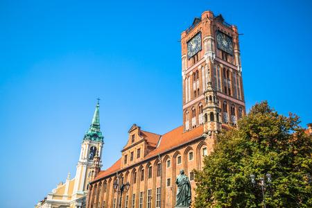 Old City Town Hall (Polish: Ratusz Staromiejski) Torun, Poland. Stock Photo