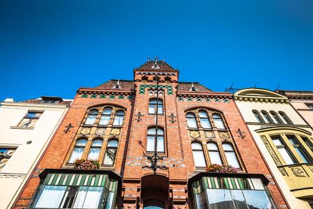 City of Torun in Poland, historic tenement houses