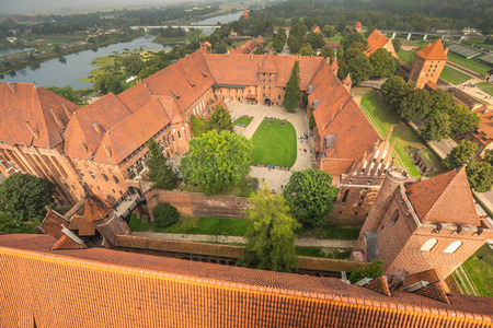 astonishing: Malbork Castle in Poland medieval fortress built by the Teutonic Knights Order