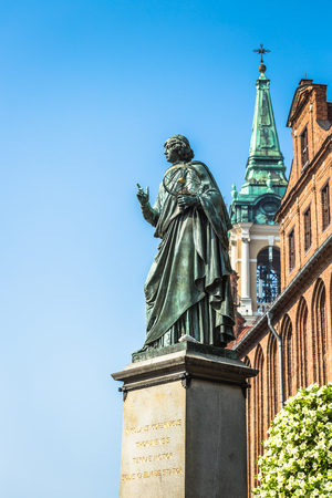 Torun,Poland-September 11,2016:Monument of great astronomer Nicolaus Copernicus, Torun, Poland Stock Photo