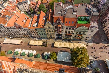Torun,Poland-September 11,2016:Torun panorama seen from tower of the Old Town Hall