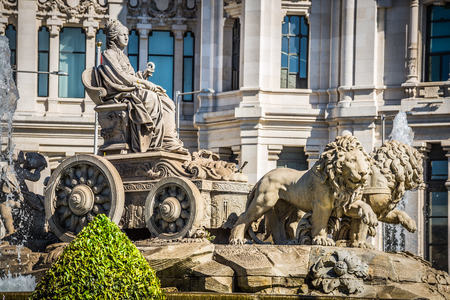 Cibeles fountain at Madrid, Spain - architecture background Stock Photo